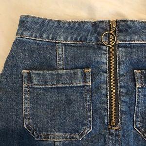 Madewell Skirts - MADEWELL denim zip ring skirt - size 26